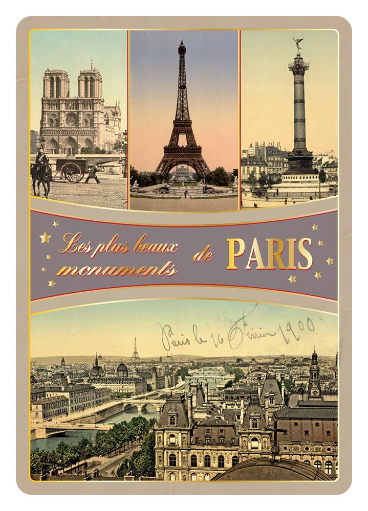 Carte Postale Paris Dorure - Multivues