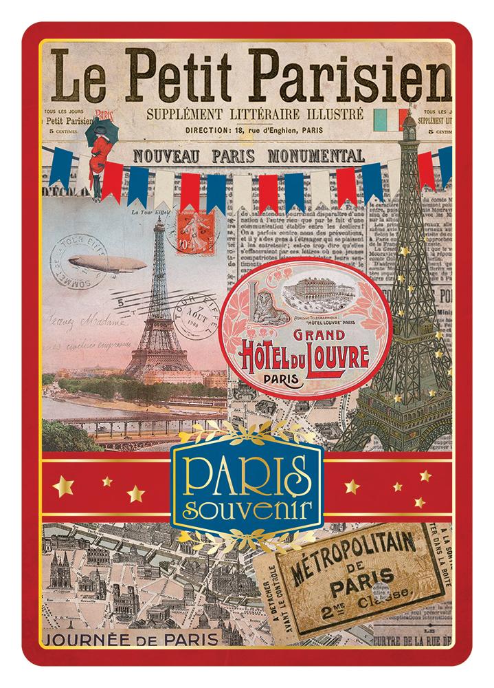 Carte Postale Paris Dorure - Le Petit Parisien