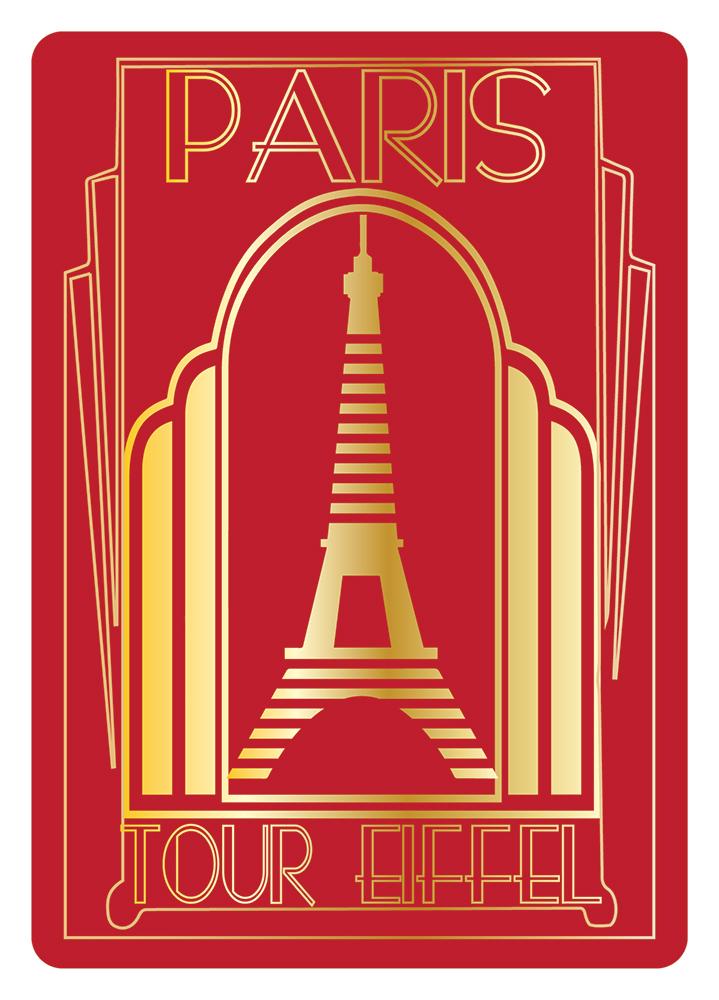 Carte Postale Paris Dorure - Art Déco
