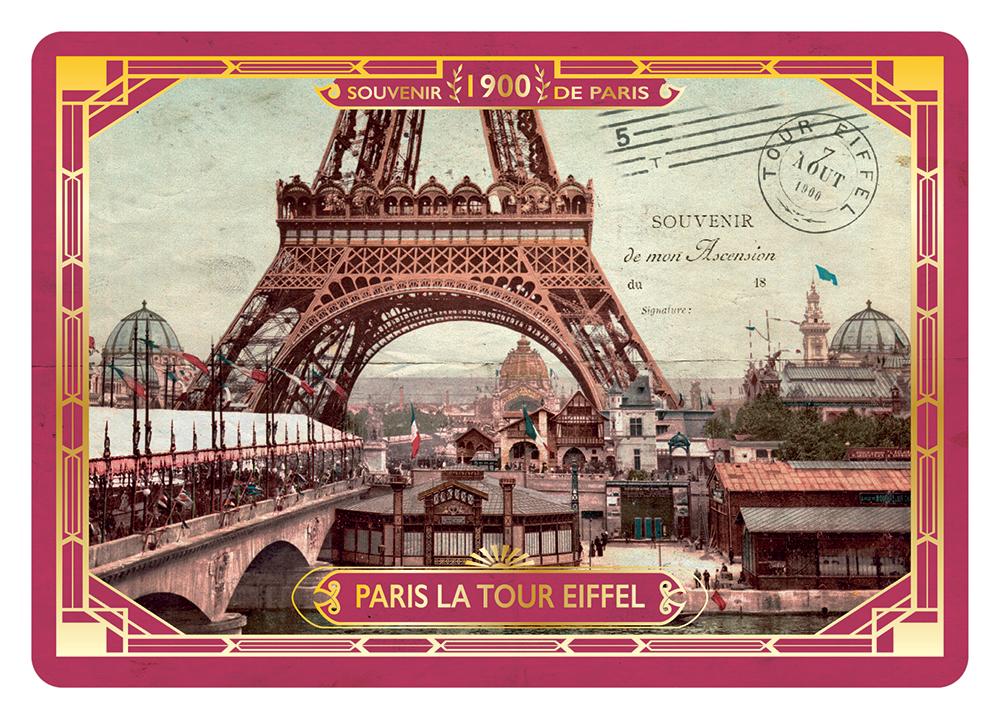 Carte Postale Paris Souvenir - Demie Tour