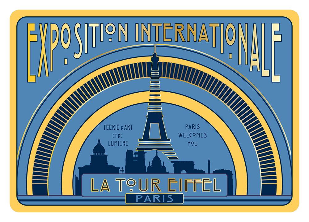 Carte Postale Paris Souvenir - Exposition 1936