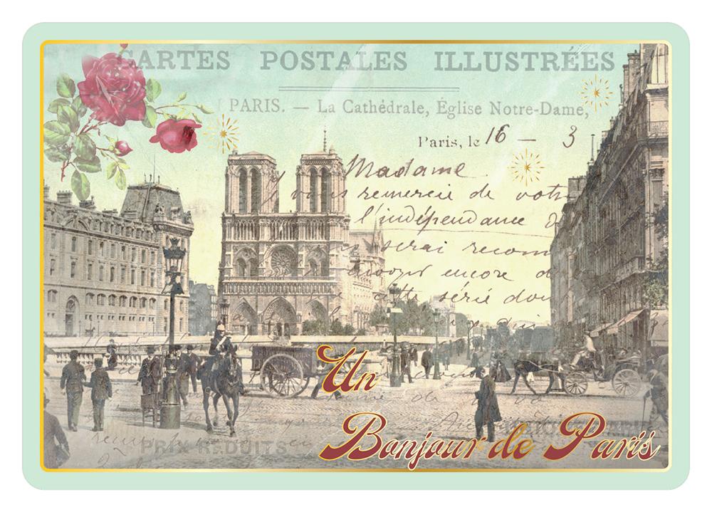 Carte Postale Paris Souvenir - Notre Dame