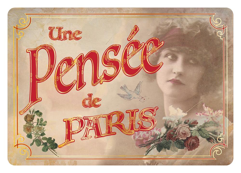 Carte Postale Paris Souvenir - Une Pensée de Paris