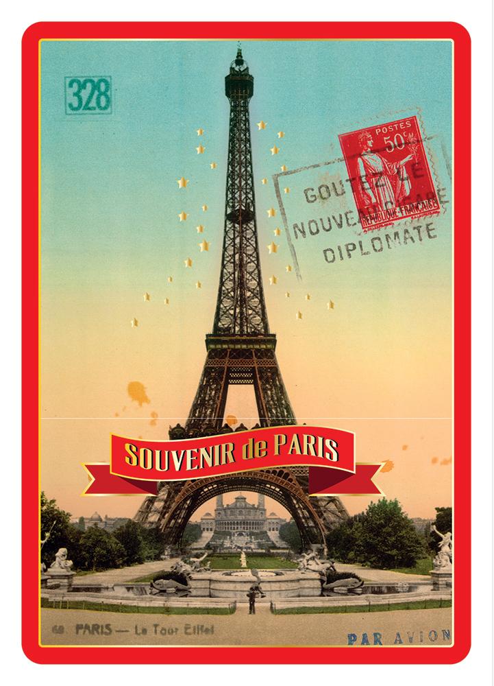 Carte Postale Paris Souvenir