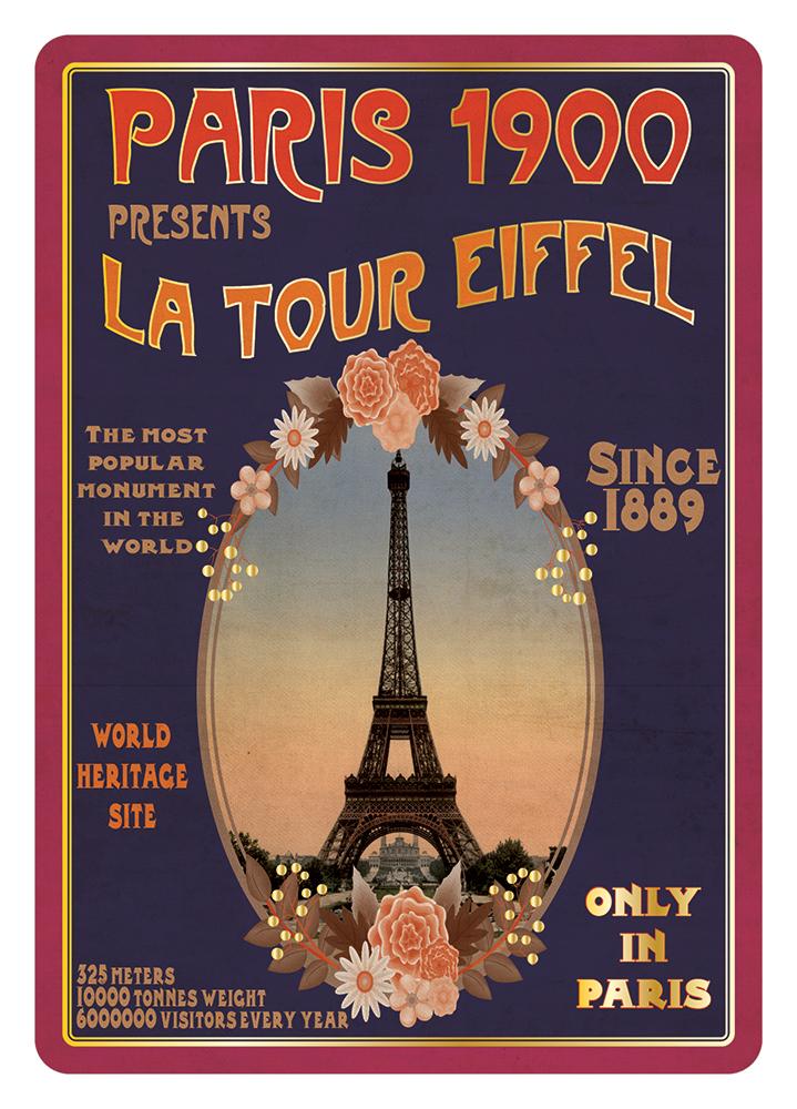 Carte Postale Paris Souvenir - Poster