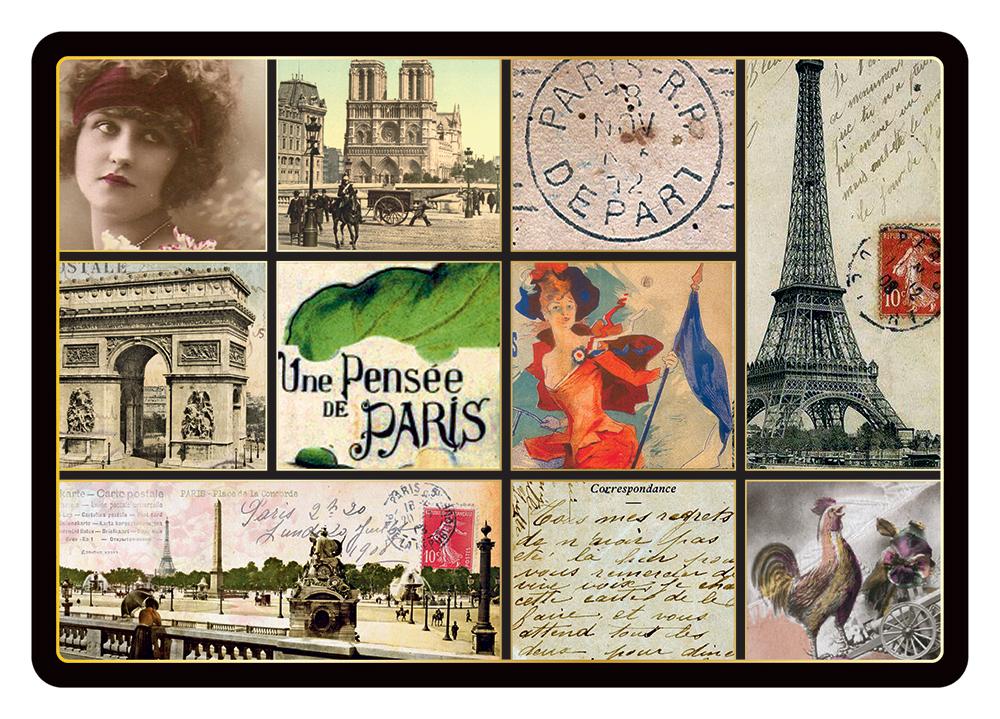 Carte Postale Paris Souvenir - Collage