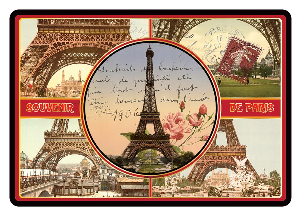 Carte Postale Paris Souvenir - Multivues