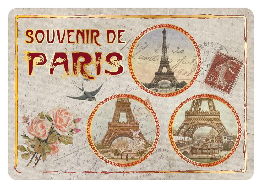 Carte Postale Paris Souvenir - Médaillons