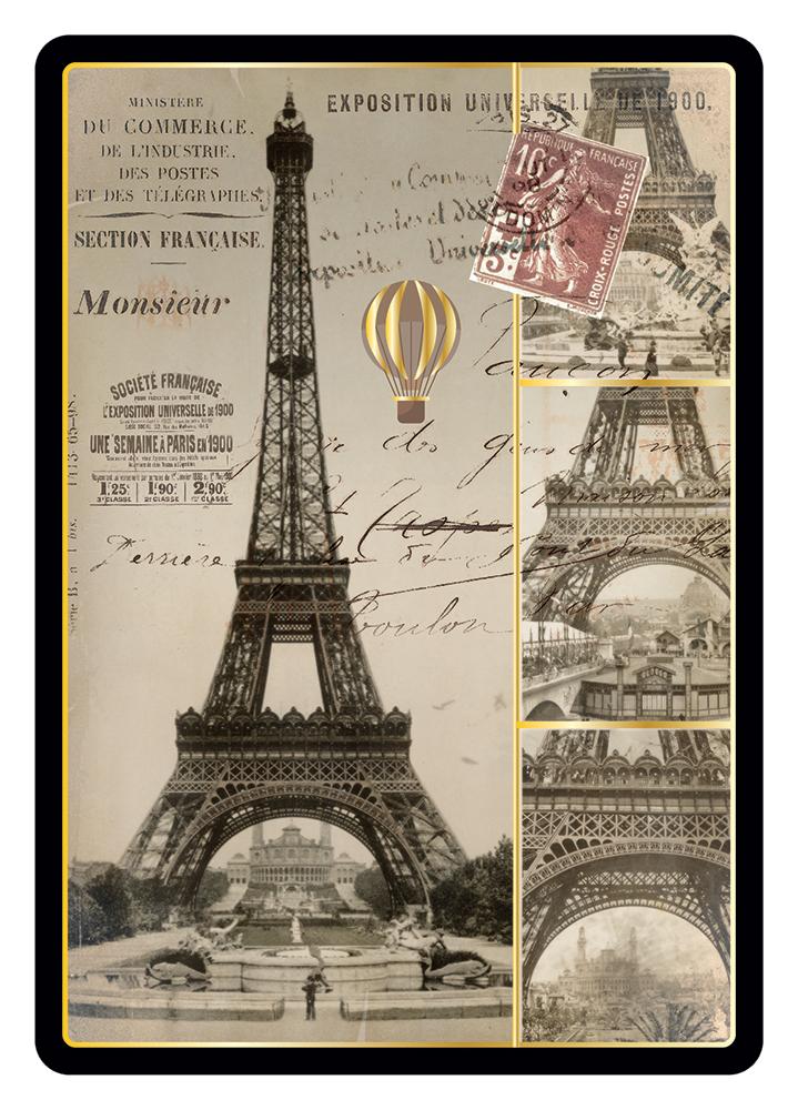 Carte Postale Paris Souvenir - Construction Tour Eiffel