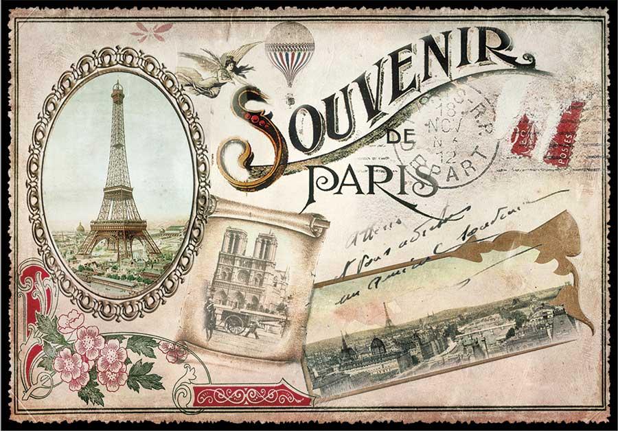 carte postale paris vintage paris souvenirs ppof 092 emmanuel gill. Black Bedroom Furniture Sets. Home Design Ideas