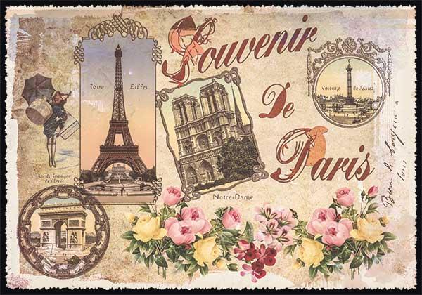 carte postale paris vintage paris souvenir multivues ppof 093 emmanuel gill. Black Bedroom Furniture Sets. Home Design Ideas