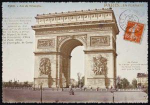 Cartes Postales Paris vintage - Arc de triomphe Champs Elysée