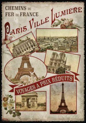 Cartes Postales Paris vintage - Ville Lumière