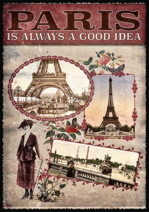 Cartes Postales Paris vintage - Paris is always a good idea