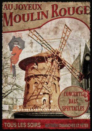 Cartes Postales Paris vintage - Moulin rouge