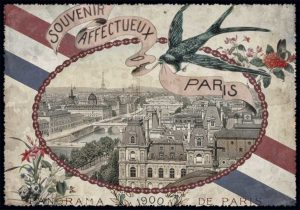 Cartes Postales Paris vintage - Souvenir