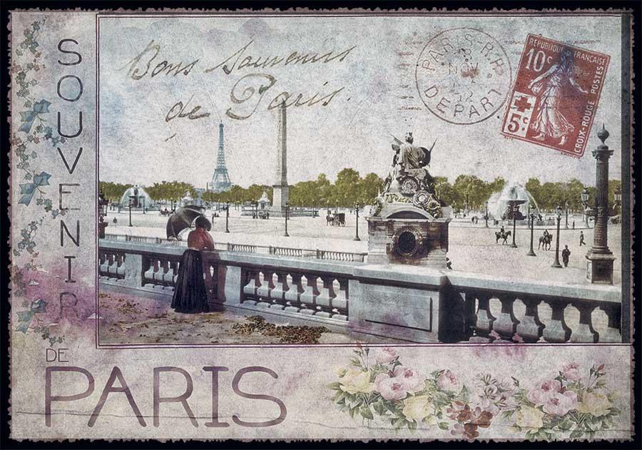 carte postale paris vintage souvenir de paris ppof 111 emmanuel gill. Black Bedroom Furniture Sets. Home Design Ideas
