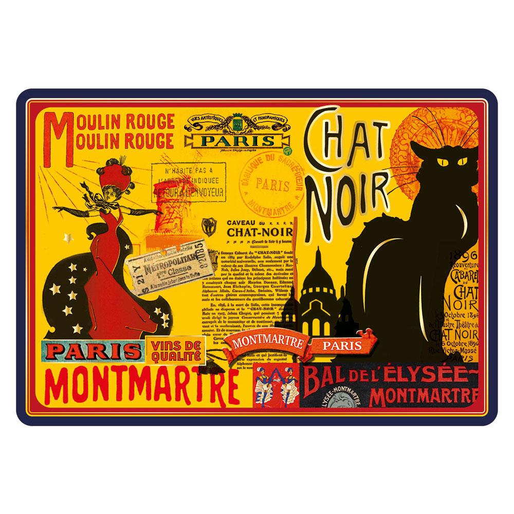 Magnet M/étal Paris Chat Noir Souvenirs de France